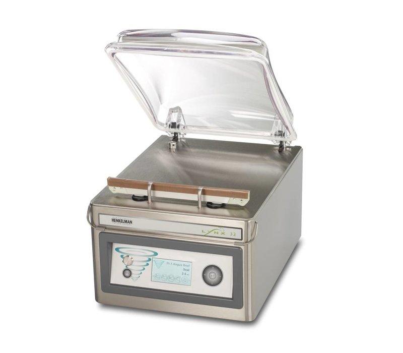 Henkelman Vacuummachine Lynx 32 | Henkelman | 008m3 / 15-30 sec | Afm. Kamer 360x320x(h)103mm
