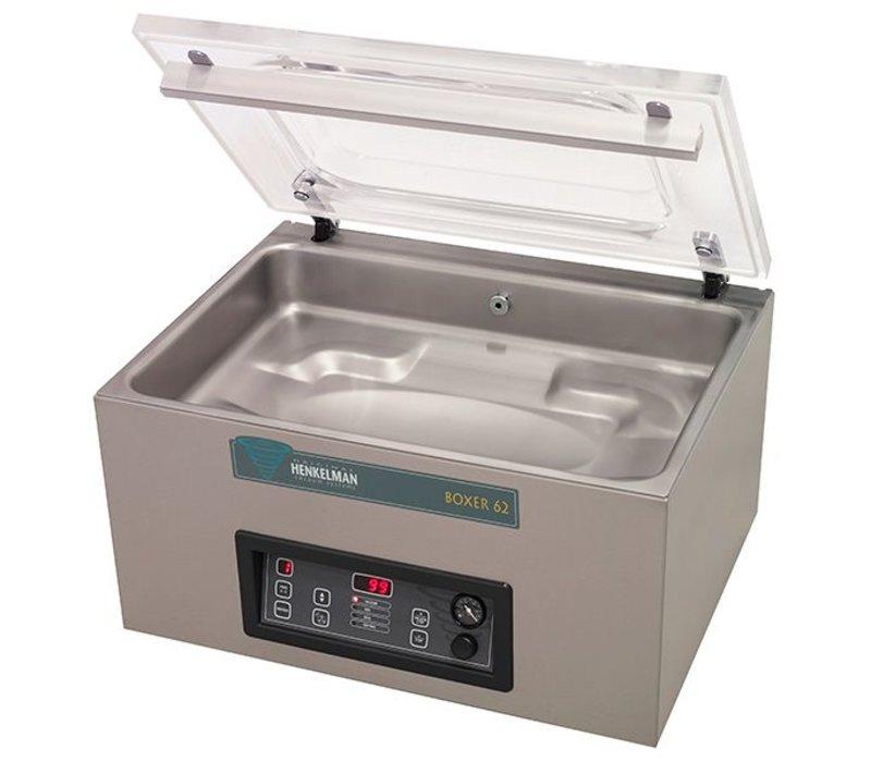Henkelman Vacuummachine Boxer 62 - XL Seal Balk 62cm | Henkelman | 021m3 / 20-40 sec | Afm. Kamer 410x520x(h)185mm