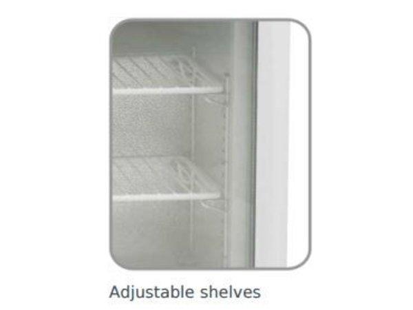 Diamond Tiefkühlschrank - 50 Liter - 57x53x (h) 65-2 Raster - Mit Licht