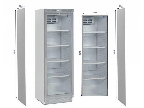 Diamond Kühlschrank - 380 Liter - Glastür - 59x60x (h) 184cm - links und rechts Drehtür