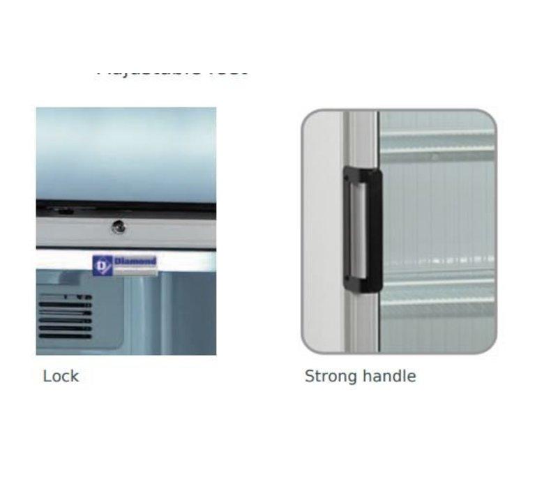 Diamond Kühlschrank - 380 Liter - Glastür - 59x60x (h) 198cm- Reversible Tür