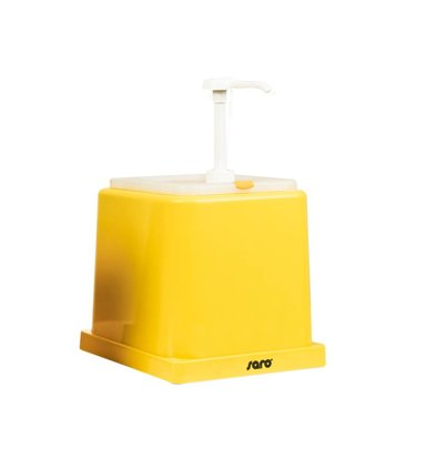 Saro Saus Dispenser - Geel - 2 Liter - Basic