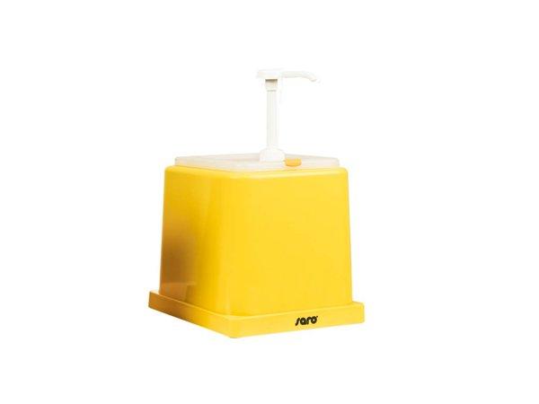 Saro Saus Dispenser - Geel - 2 Liter - Basic