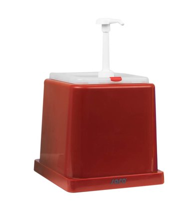 Saro Sauce Dispenser - Red - 2 Liter - Basic