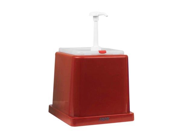 Saro Soßenspender - Rot - 2 Liter - Grund