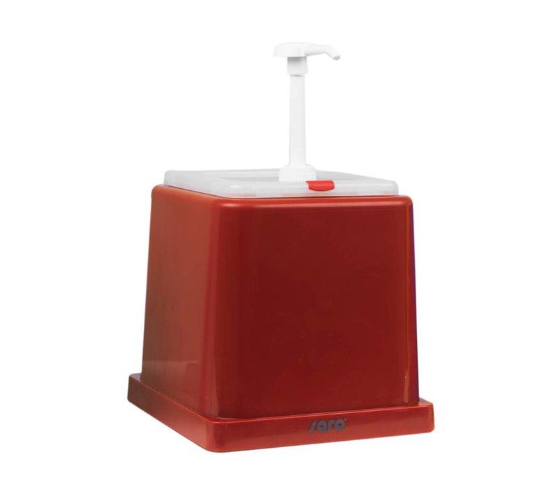 Saro Saus Dispenser - Rood - 2 Liter - Basic