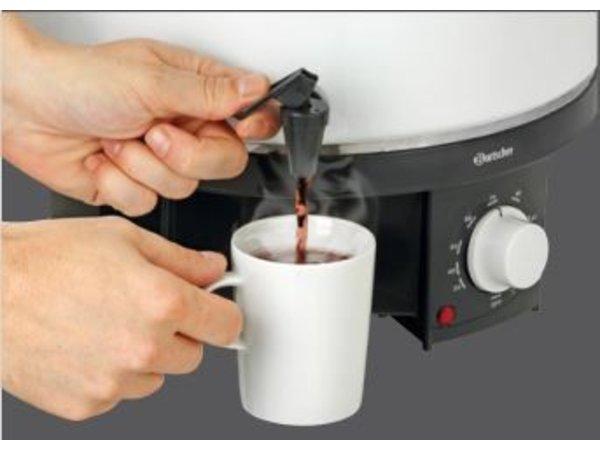 Bartscher Glühwein Kessel / Warmwasser-Boiler | Temperaturregler | Hahn | Ø320 mm | 18 Liter