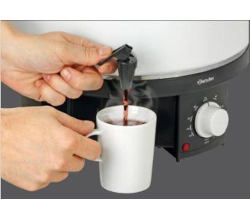 Bartscher Gluhwein ketel / heet water ketel | Temperatuurregelaar | Tapkraan | Ø320 mm | 18 liter