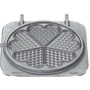 Neumarker Heart Waffle Insert Only | Cast iron