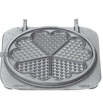 Neumarker Heart Waffle Insert Only   Cast iron