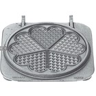 Neumarker Heart Waffle Insert Double   Cast iron