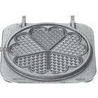 Neumarker Herz Waffle Insert Doppel   Gusseisen