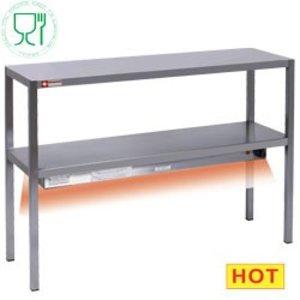 Diamond Chefrek / Warmtebrug | RVS 2 Niveau's | 1400x300x(H)700mm