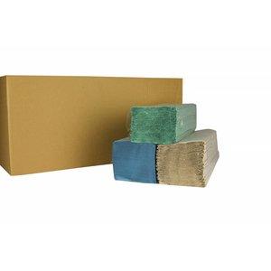 XXLselect Handdoekjes ZZ-vouw | Naturel | 1 laags, 23 x 25cm | 20 x 250 vel in Doos | (ook Pallets) Prijs per 5000 Vellen