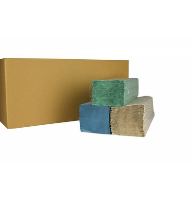 XXLselect Towels ZZ-fold | Natural | 1-ply, 23 x 25cm | 20 x 250 sheets in Box | (also Pallets) Price per 5000 sheets