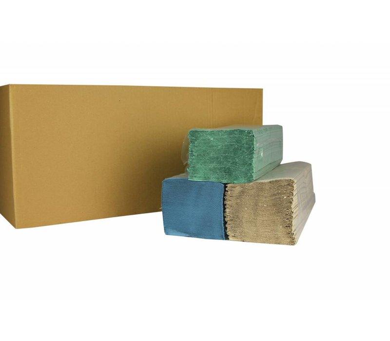 XXLselect Handtücher ZZ-fach   Natur   1-lagig, 23 x 25 cm   20 x 250 Blatt in Box   (auch Paletten) Preis pro 5000 Blatt