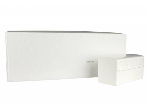 XXLselect Handtücher ZZ-fach | Cellulose | 2-lagig, 22 x 22 cm | 15 x 210 Blätter in Box | (auch Paletten) Preis pro 3150 Blatt