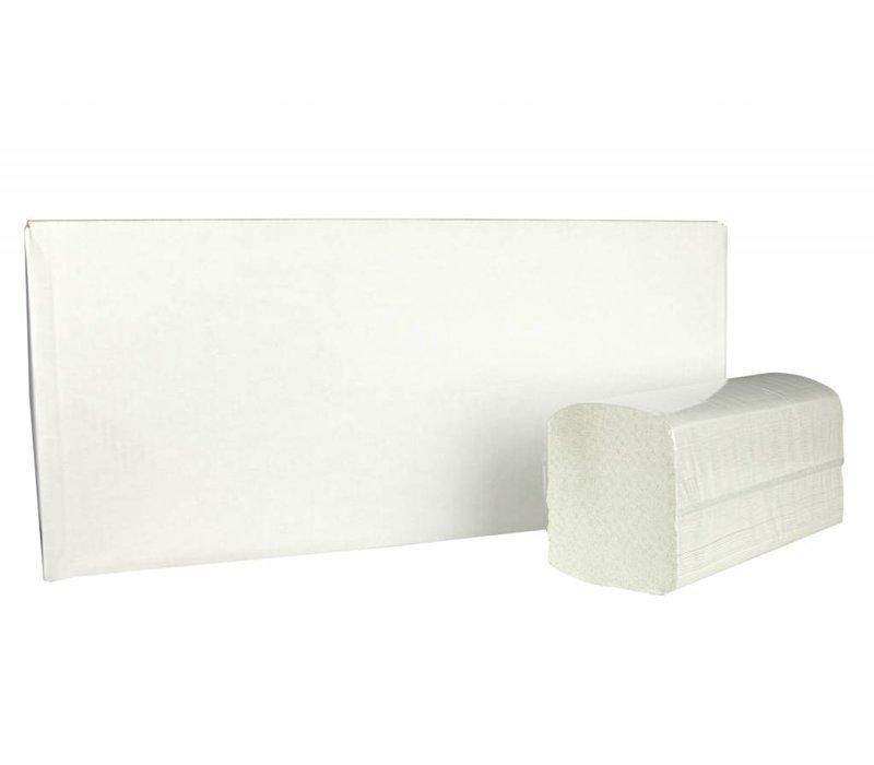 XXLselect Handdoekjes ZZ-vouw | Recycled | 2 laags, 23 x 25cm |15 x 215 vel in Doos | (ook Pallets) Prijs per 3225 Vellen