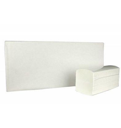 XXLselect Interfold Handtücher | Cellulose | 2-lagig, 32 x 22 cm | 20 x 125 Blatt in Box | (auch Paletten) Preis pro 2500 Blatt