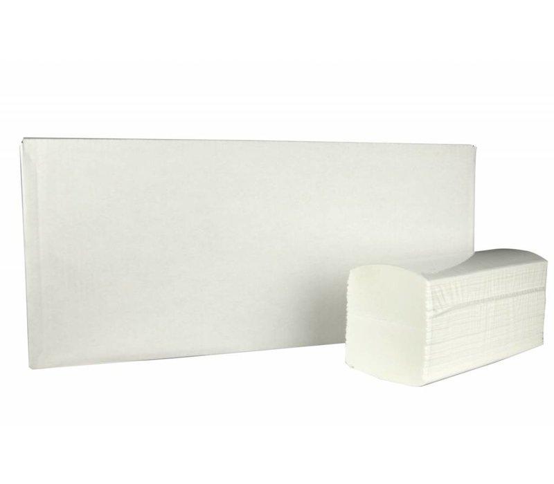 XXLselect Handdoekjes Interfold   Cellulose   2 laags, 32 x 22cm  20 x 125 vel in Doos   (ook Pallets) Prijs per 2500 Vellen