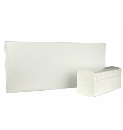 XXLselect Towels Interfold | Cellullose | 3 ply, 42 x 22cm | 20 x 100 sheets in Box | (Including pallets) Price per 2,000 sheets