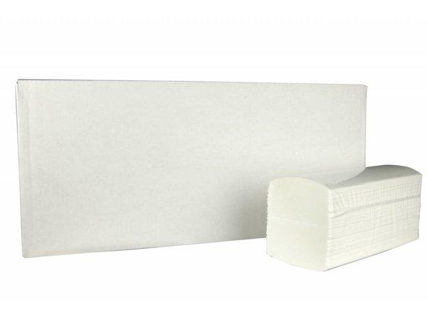 XXLselect Handdoekjes Interfold | Cellullose | 3 laags, 42 x 22cm | 20 x 100 vel in Doos | (ook Pallets) Prijs per 2000 Vellen