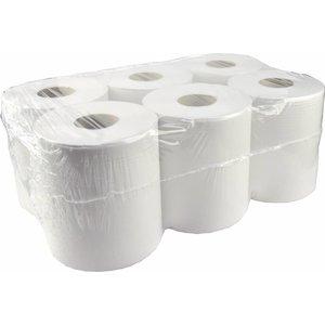 XXLselect Handdoekrol Midi | Recycled | 1 laags | 19,5cm x 300 meter op Rol | (ook Pallets) Prijs per 6 Rollen