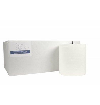 XXLselect HPG Handtuch | Matic Cellulose | 2-Schicht | 21cm x 150m Rolls | (Einschließlich Paletten) Preis pro 6 Rollen