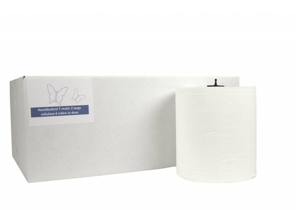 XXLselect HPG towel | Matic Cellulose | 2 layer | 21cm x 150m Rolls | (Including pallets) Price per 6 rolls