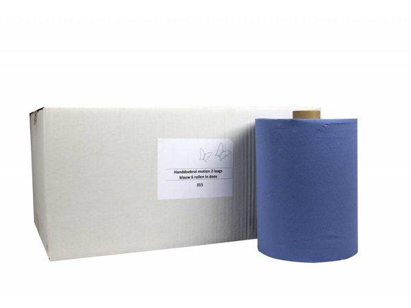 XXLselect HPG Handtuch | Bewegung blau | 2-Schicht | 24 mx 150 m auf Rolle | (Einschließlich Paletten) Preis pro 6 Rollen