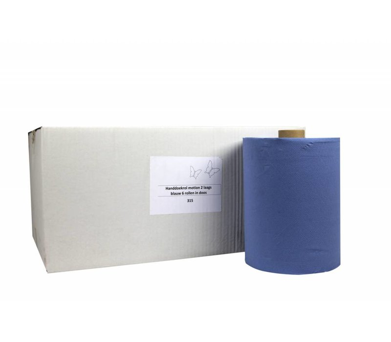 XXLselect HPG towel | Motion Blue | 2 layer | 24 mx 150 m on roll | (Including pallets) Price per 6 rolls