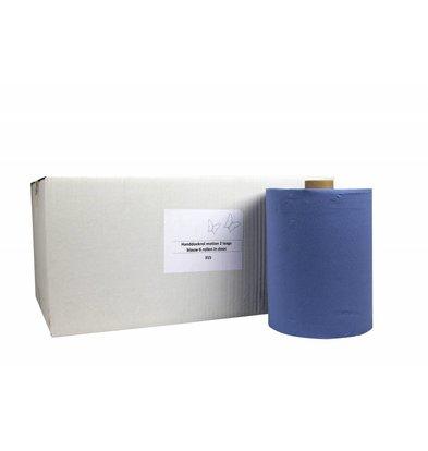 XXLselect Handdoekrol HPG | Motion Cellulose | 2 laags | 24cm x 150 meter op Rol | (ook Pallets) Prijs per 6 Rollen