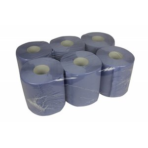 XXLselect Towel Midi | Blue | 2 layer | 20cm x 140 meters on a roll | (also Pallets) Price per 6 rolls
