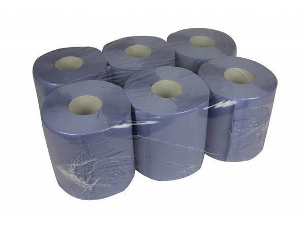XXLselect Handdoekrol Midi | Blauw | 2 laags | 20cm x 140 meter op rol | (ook Pallets) Prijs per 6 Rollen