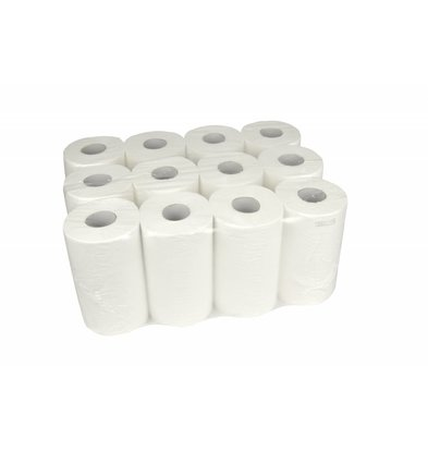 XXLselect Mini Handtuch   Cellulose   Erste Schicht   20cm x 120m auf Rollen   (auch Paletten) Preis pro 12 Rollen