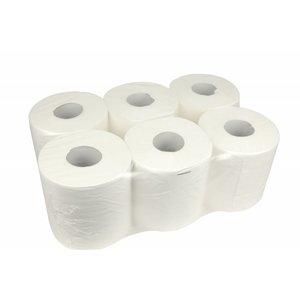 XXLselect Handdoekrol Midi | Cellulose | 1 laags | 20cm x 300 meter op rol | (ook Pallets) Prijs per 6 Rollen