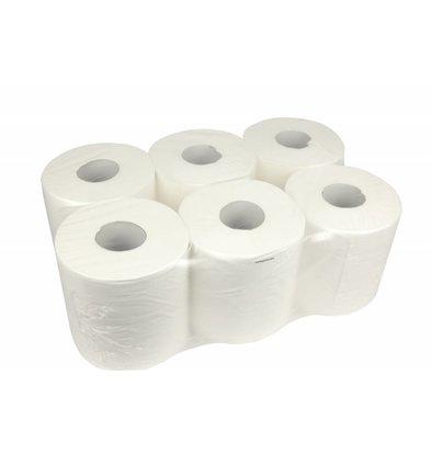 XXLselect Handtuchrolle Midi | Cellulose | 1 Schicht | 20cm x 300m auf einer Rolle | (Einschließlich Paletten) Preis pro 6 Rollen