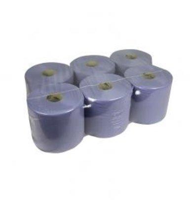 XXLselect Handtuchrolle Midi | blau | 1 Schicht | 20cm x 300m auf einer Rolle | (Einschließlich Paletten) Preis pro 6 Rollen