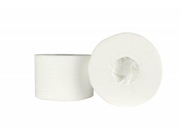 XXLselect Toiletpapier zonder Kern | Coreless Jumbo | Cel 2 laags, 200m x 13,4cm | (ook Pallets) Prijs per 6 Rollen