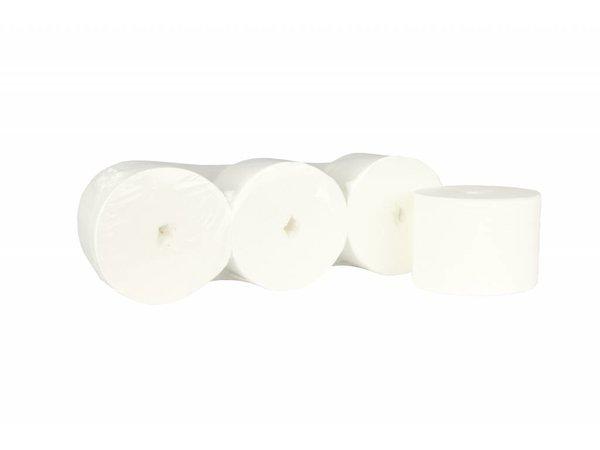 XXLselect Toiletpapier zonder Kern | Coreless Jumbo | Cel 2 laags, 900 vel | 112,5 meter op Rol |(ook Pallets) Prijs per 36 Rollen