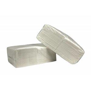 XXLselect Servetten Wit Vierkant  Cellulose   1 laags   33 x 33cm   1/4 vouw   9 x 500 Servet   (ook Pallets) Prijs per 4500 Servetten