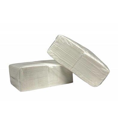 XXLselect Servietten White Square | Cellulose | Erste Schicht | 33 x 33 cm | Quarter fach | 4 x 250 Serviette | (auch Paletten) Preis pro 1.000 Servietten