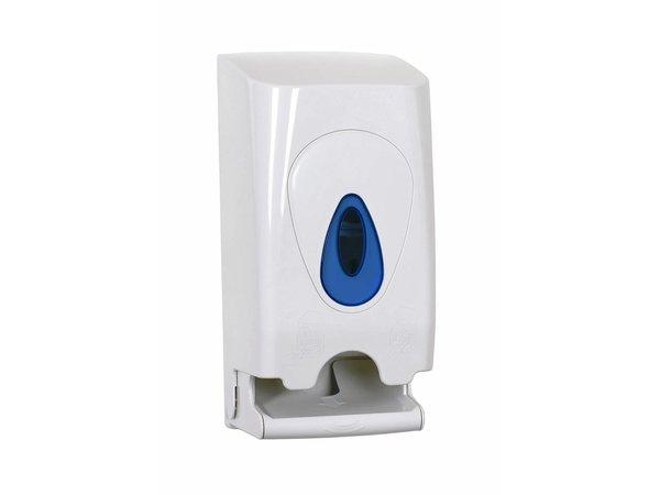 XXLselect Duo Toiletten-Rolle / Spender | Weiße Kunststoff-