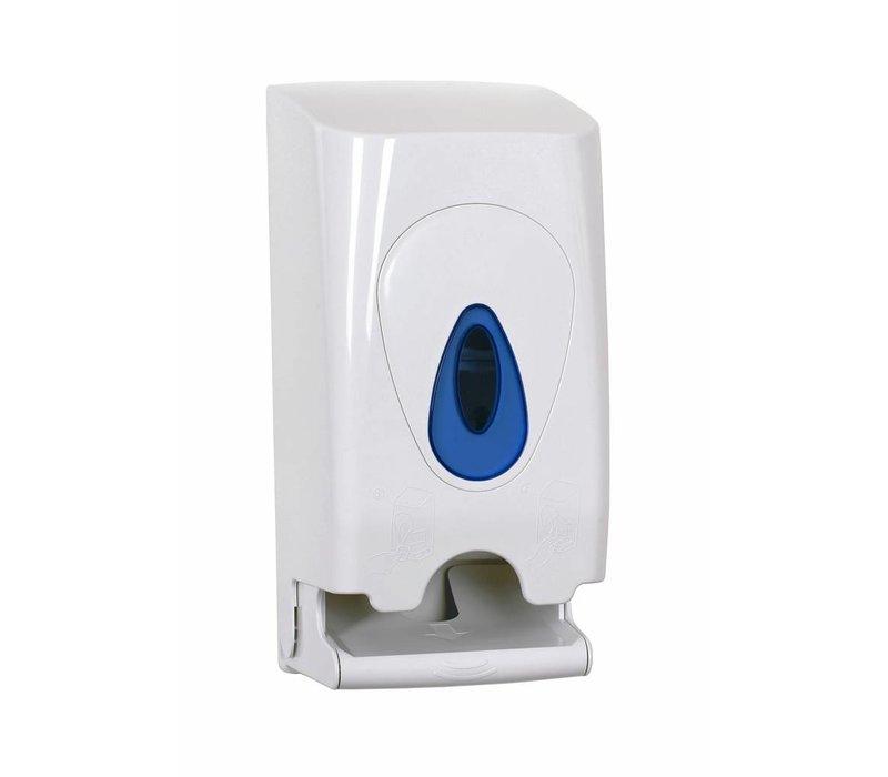XXLselect Duo Toilet Roll / Dispenser | White plastic