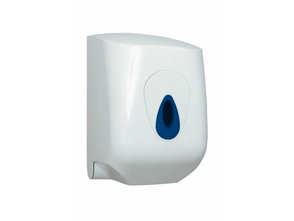 XXLselect Handdoekrol Dispenser Midi | Wit Kunststof