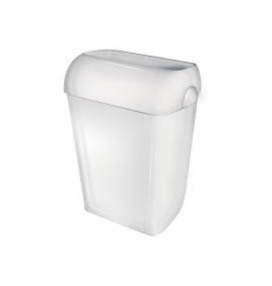 XXLselect Abfallbehälter stehend | Weiß Kunststoff | Stehend / Wandmontage | 42 Liter