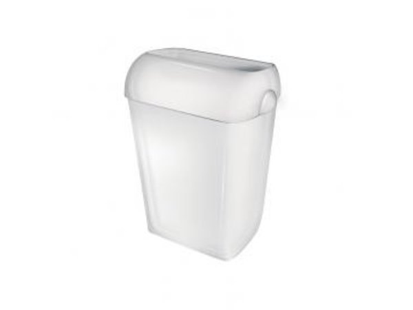XXLselect Abfallbehälter stehend   Weiß Kunststoff   Stehend / Wandmontage   42 Liter