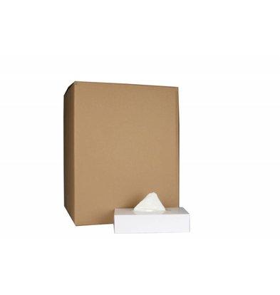 XXLselect Kosmetiktücher Rechteckig | Cellulose zweite Schicht | 20 x 21 cm | 36 x 100 in Box | (auch Paletten) Preis pro 3600 Tissues