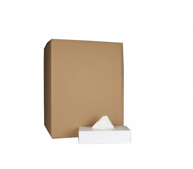 XXLselect Facial Tissues Rechthoekig   Cellulose 2 laags   20 x 21cm   36 x 100 in Doos   (ook Pallets) Prijs per 3600 Tissues