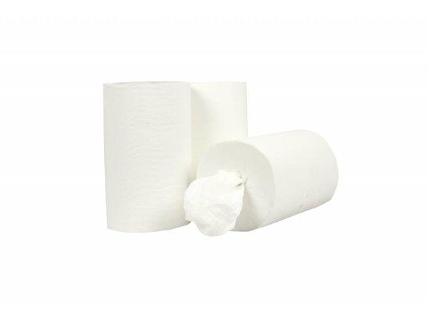 XXLselect Handdoekrol Mini zonder Koker | Cellulose | 1 laags | 20cm x 120 meter op Rol | (ook Pallets) Prijs per 12 Rollen